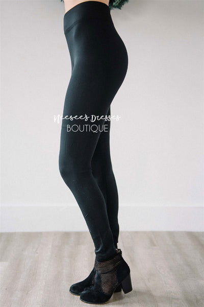 Basic Ankle Leggings Cyber Monday vendor-unknown Black S/M