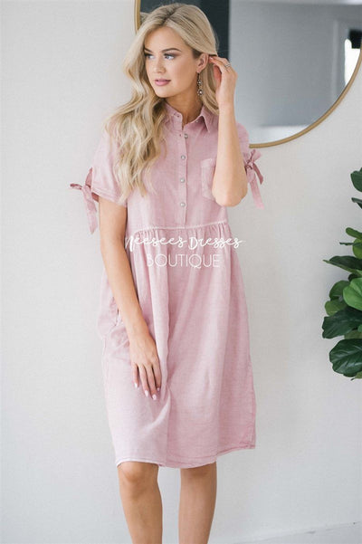 The Jayla Modest Dresses vendor-unknown S Dusty Pink