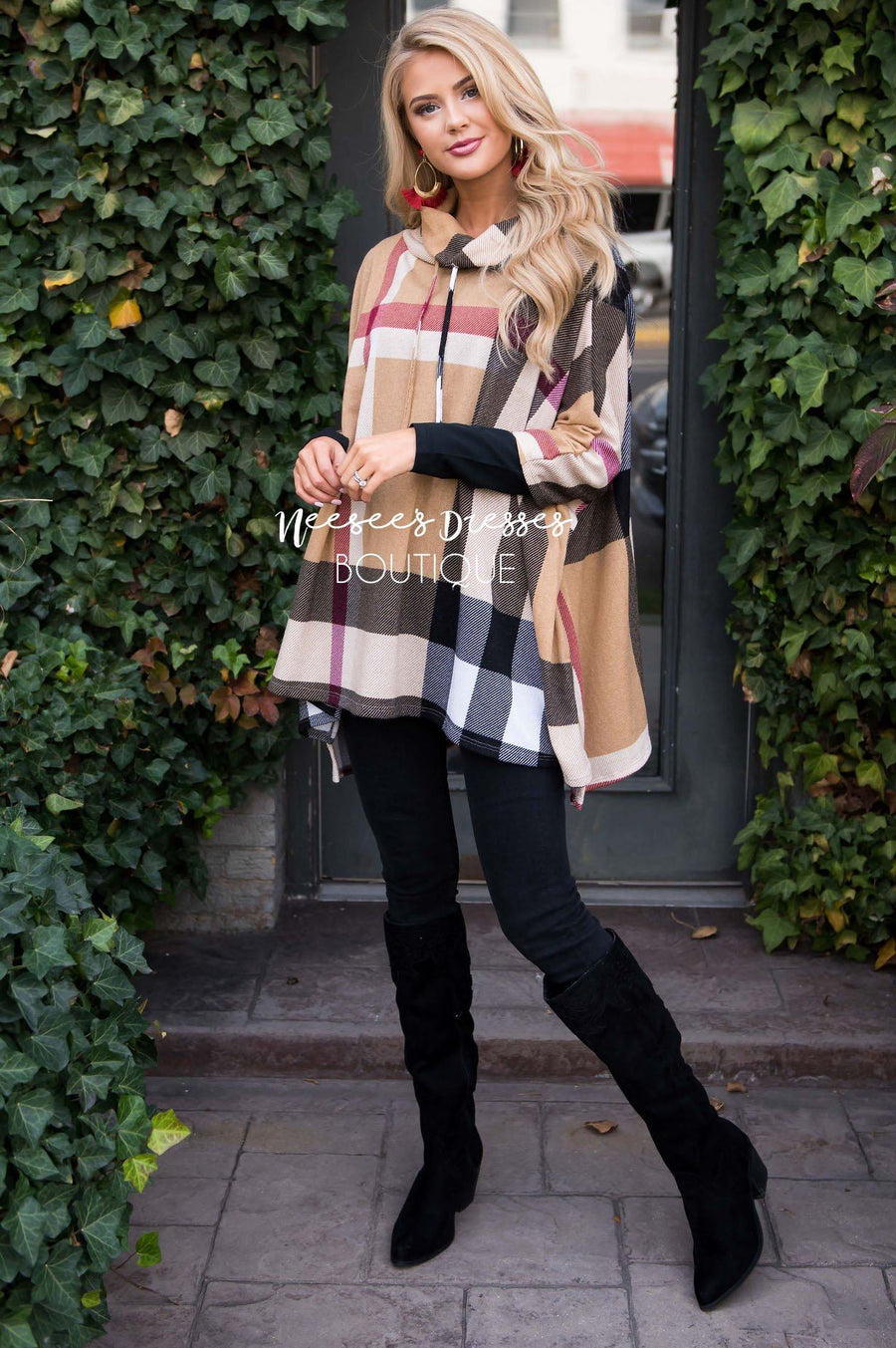 Seasons Of Love Plaid Poncho