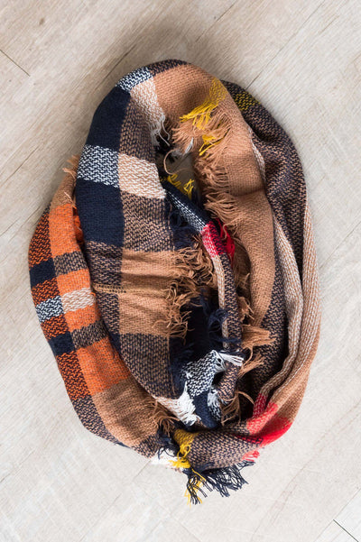 Cozy Up With You Plaid Scarf Accessories & Shoes Leto Accessories