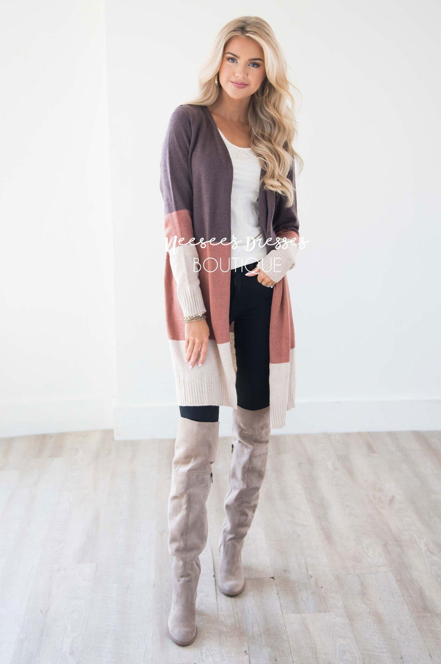 Autumn Inspired Striped Cardigan