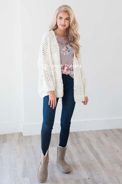 Oversized Soft & Cuddly Cardigan Tops vendor-unknown