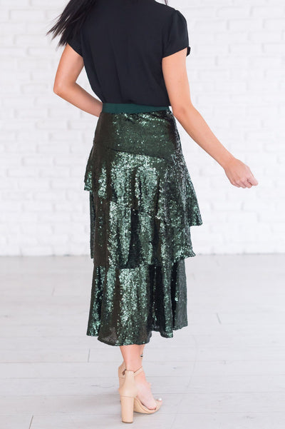 Caught My Eye Modest Sequin Skirt Modest Dresses vendor-unknown