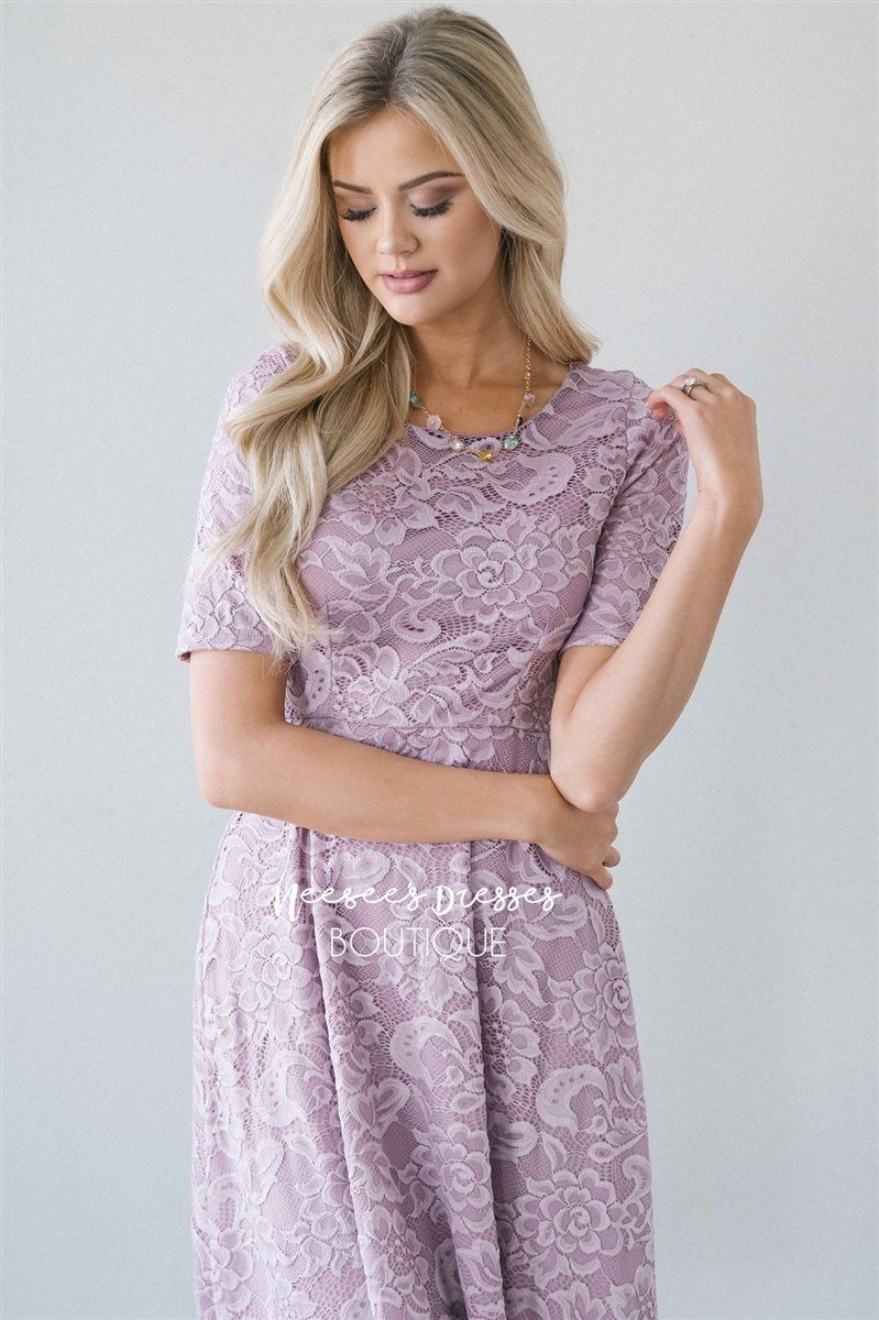 The Stella Modest Dresses vendor-unknown XS Dusty Lilac