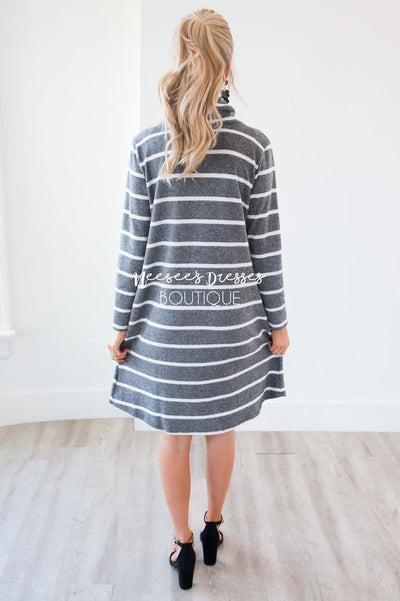 The Timber Cowl Neck Soft Sweater Dress Modest Dresses vendor-unknown