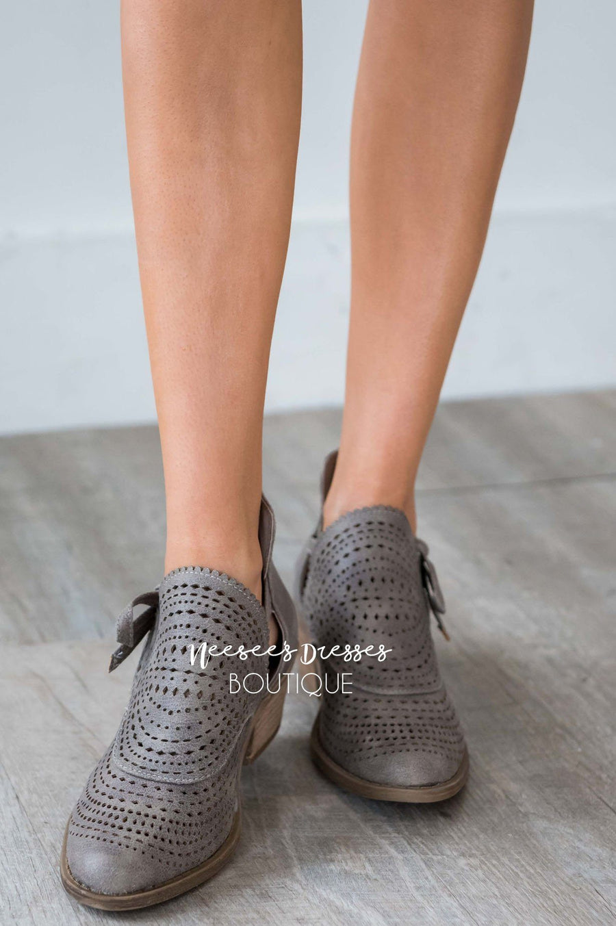 The Cici Bow Detail Booties