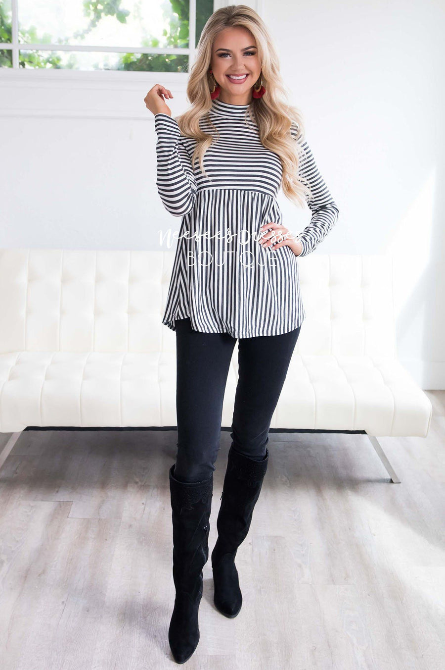 Down Town Dreams Striped Babydoll Top