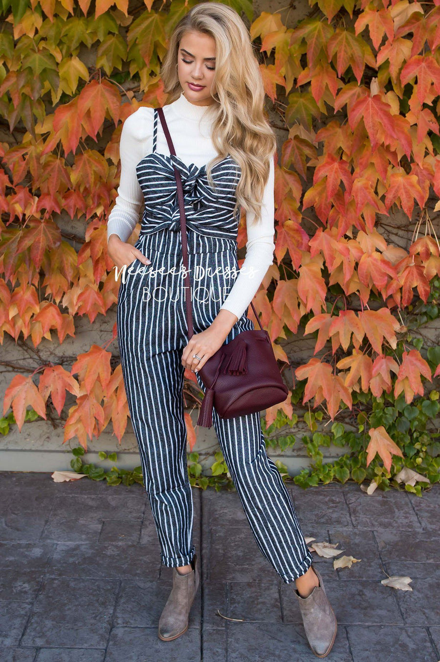 The Abilene Tie Detail Jumpsuit