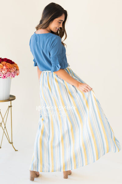 Charmed and Classy Maxi Skirt Skirts vendor-unknown
