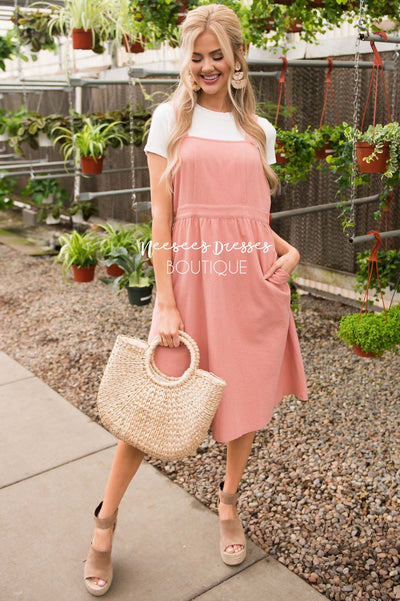 The Averi Overall Dress Modest Dresses vendor-unknown