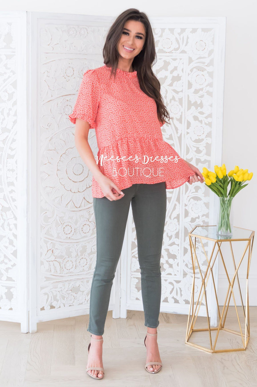 Lift My Spirit Modest Peplum Blouse