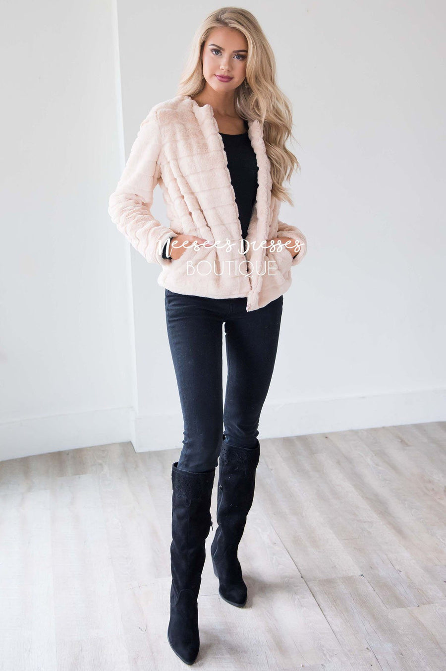 Long Winter Nights Faux Fur Jacket