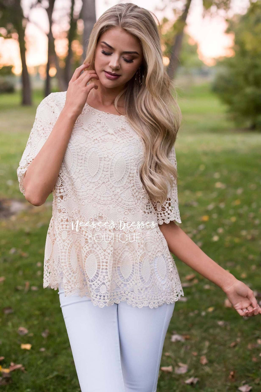 You're So Enchanting Lace Top