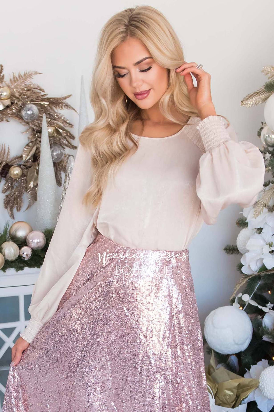 It's A Wonderful Life Satin Blouse