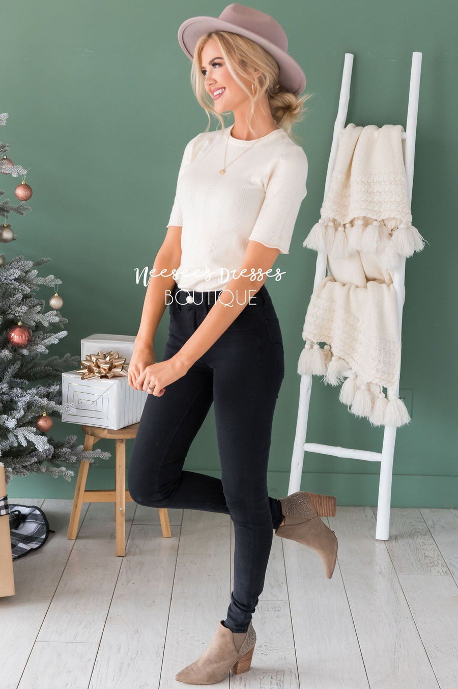 Cream & Sugar Ribbed Sweater