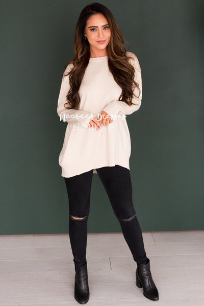 Live in The Moment Oversize Sweater Modest Dresses vendor-unknown