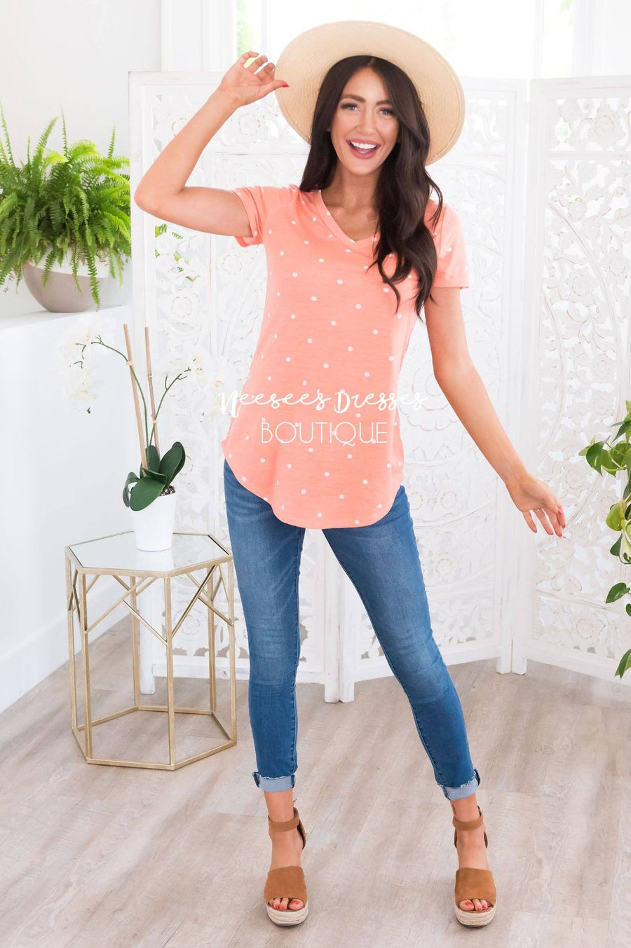 All In Good Fun Modest Dot Tee