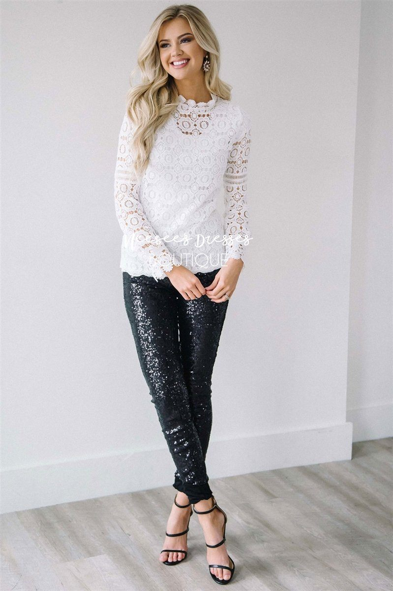 New Years Eve Sequin Leggings
