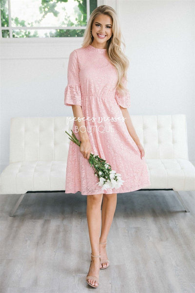 The Megan Modest Dresses vendor-unknown Blush Pink XS