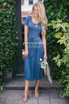 The Molly Modest Dresses vendor-unknown S Heather Blue
