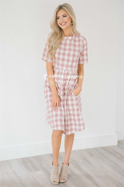 The Macey Modest Dresses vendor-unknown S Dusty Pink