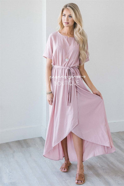 The Maleah Modest Dresses vendor-unknown Soft Pink S