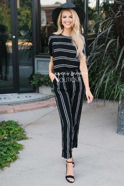 The Katherine Striped Jumpsuit