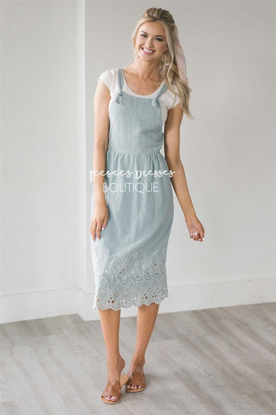 The Kalissa Overall Dress Modest Dresses vendor-unknown S Dusty Sage
