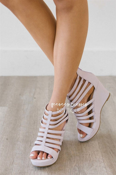 3bb2fb22da Cute Lilac Strappy Wedges | Cute Boutique Shoes and Sandals | Spring ...