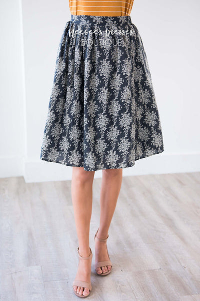 Keeps Calling Me Back Damask Skirt