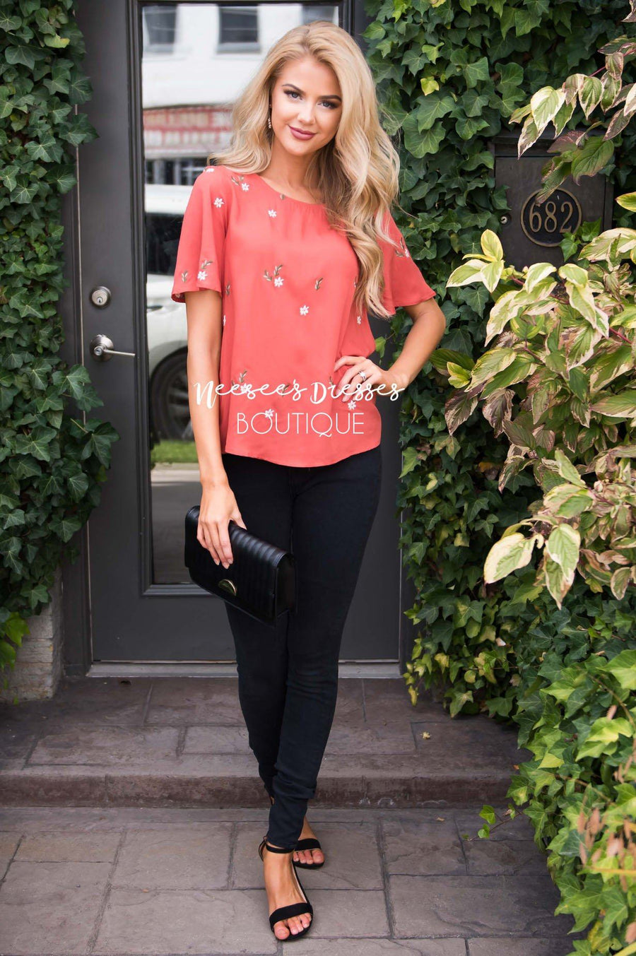 Dashing Daisy Embroidered Blouse