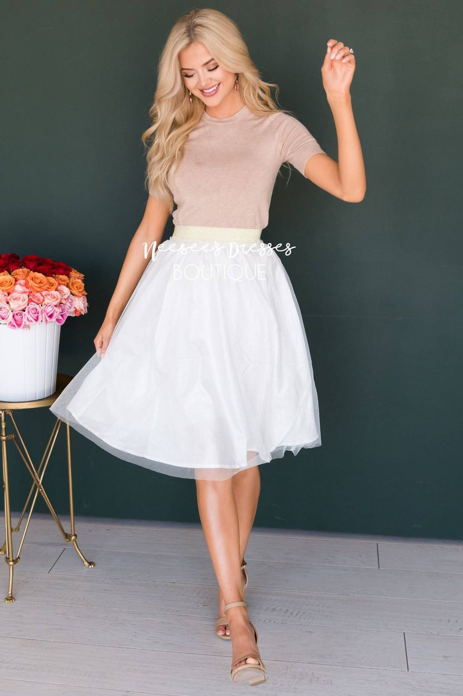 Dazzled Up Tulle Skirt