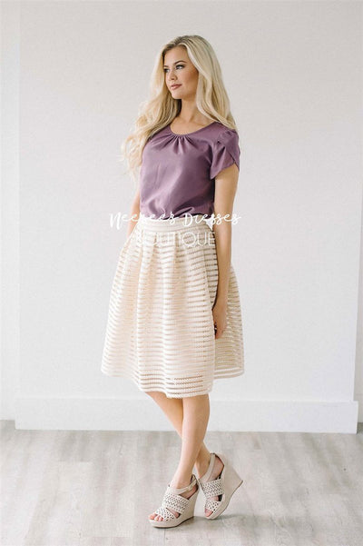 Dusty Lavender Chiffon Top Tops vendor-unknown