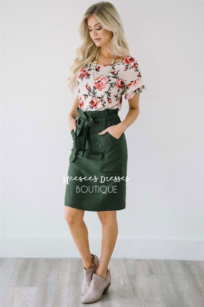 Floral Double Ruffle Sleeve Top Tops vendor-unknown