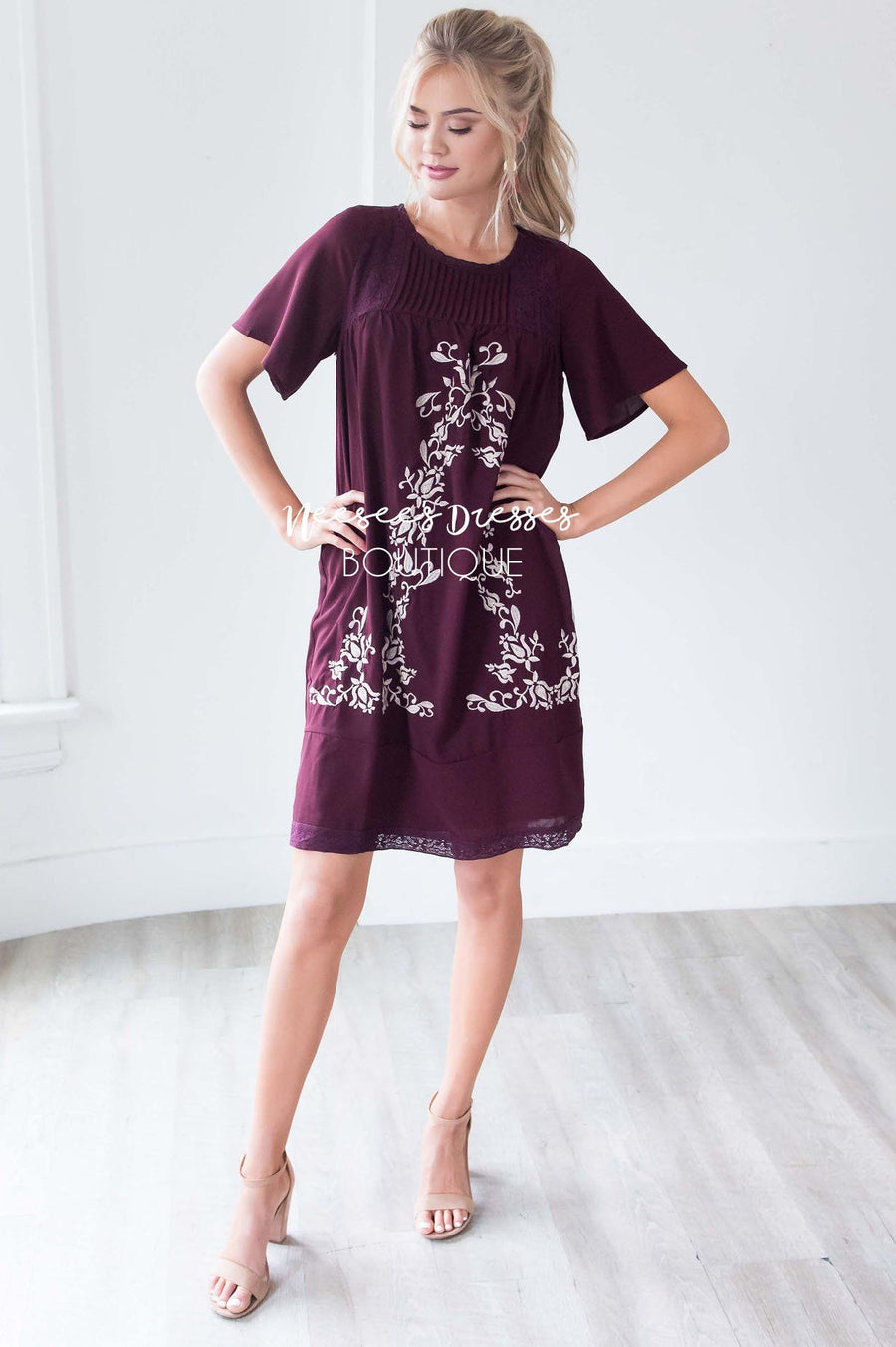 The Paige Embroidered Shift Dress