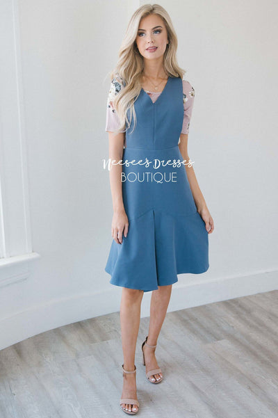 The Phoenix Pleated Godet Overall Dress Modest Dresses vendor-unknown