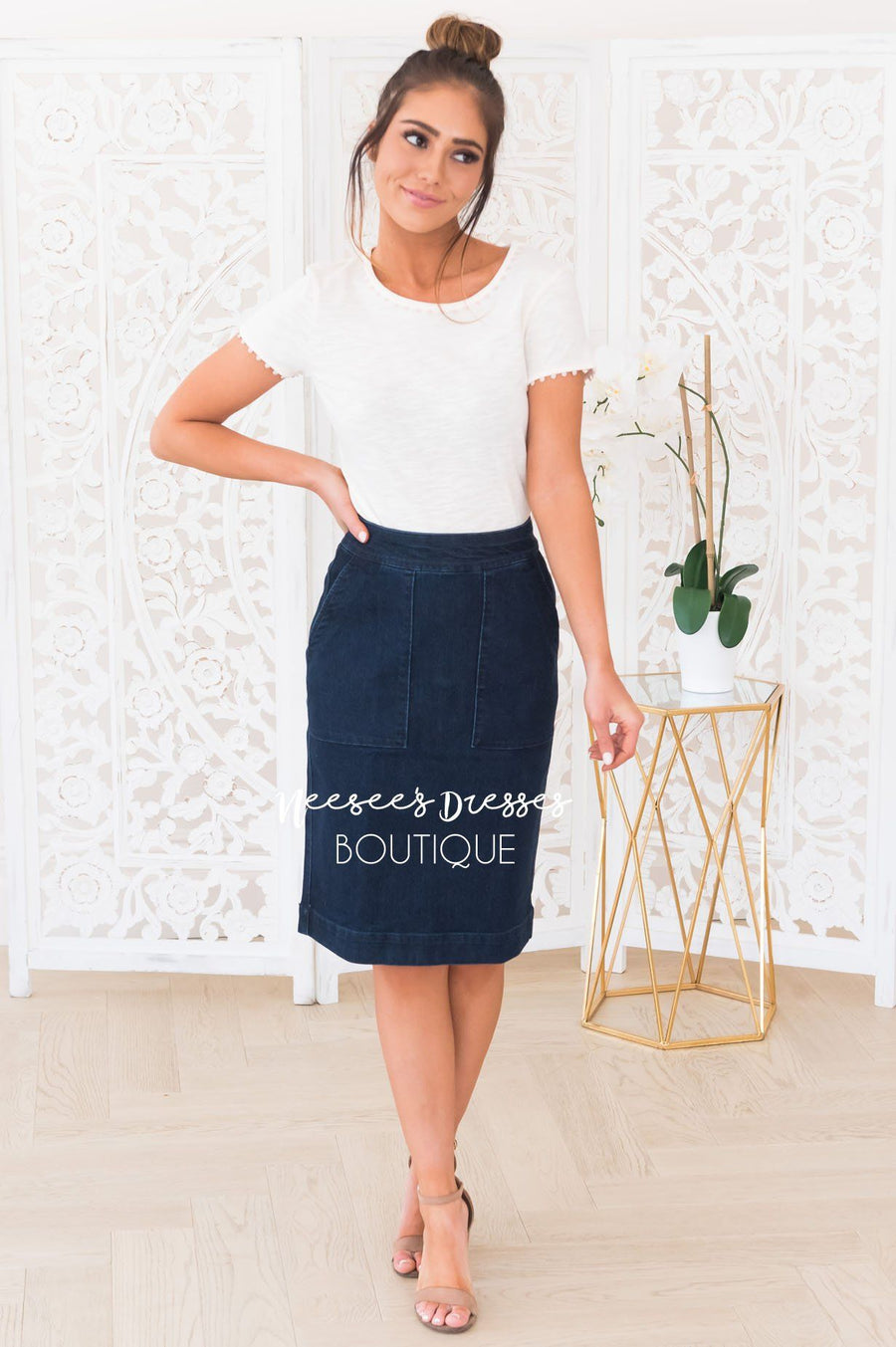 Days Like This Modest Denim Skirt