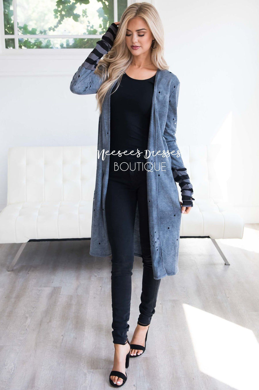 Top of The Line Distressed Duster Cardigan