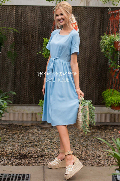 The Jasmine Tie Front Dress Modest Dresses vendor-unknown
