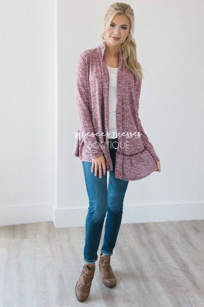 Autumn Perfection Ruffle Hem Cardigan