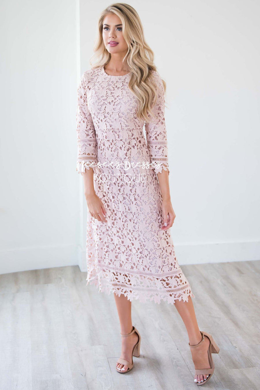 The Kaveah Lace Dress Modest Dresses vendor-unknown