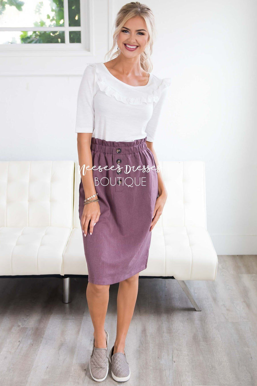 Make Life Marvelous Ruffle Waist Skirt
