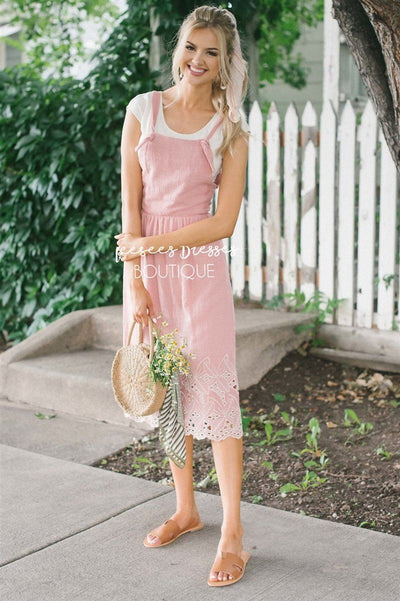 The Kalissa Overall Dress Modest Dresses vendor-unknown S Dusty Pink
