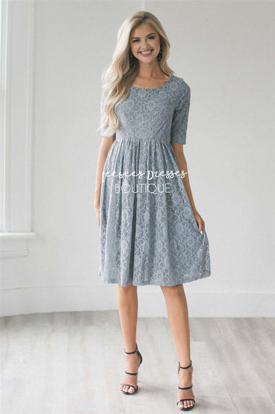 The Emmy Modest Dresses vendor-unknown Gray XS