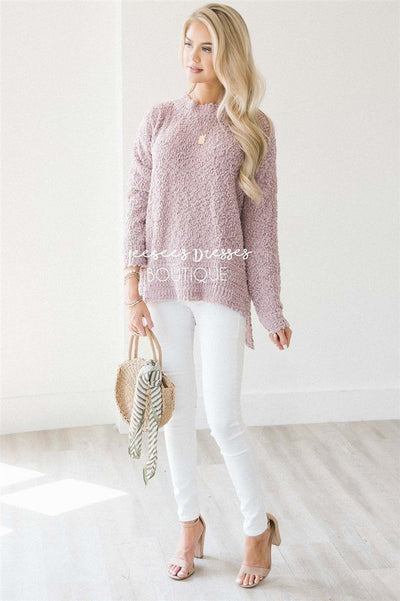 Cozy Fall Popcorn Pullover Sweater Tops vendor-unknown