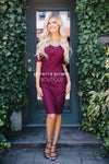 The Alaina Modest Dresses vendor-unknown Burgundy XS