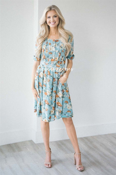 The Layla Sage Floral Dress Modest Dresses vendor-unknown