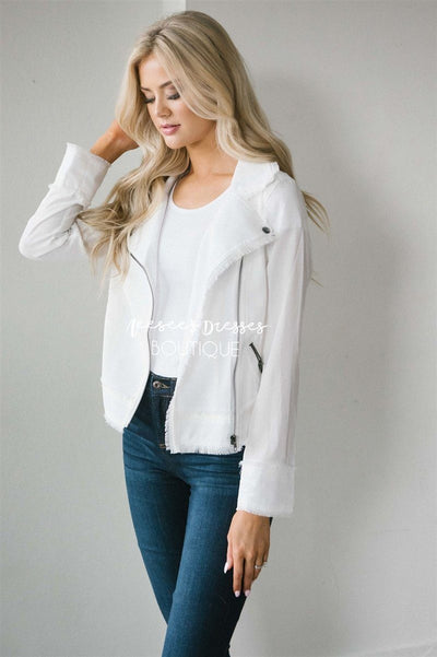 Charming Moto Jacket Tops vendor-unknown