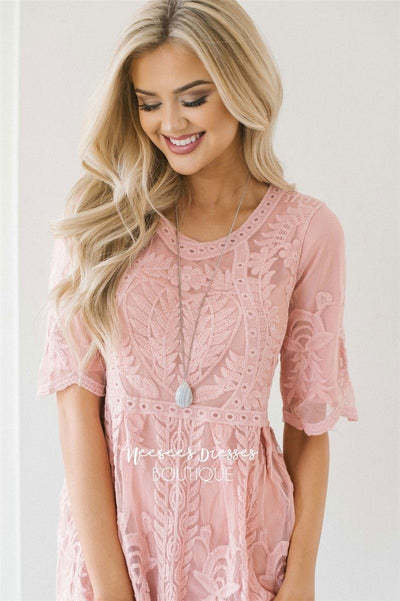 Day Dreamer Lace Full Length Dress