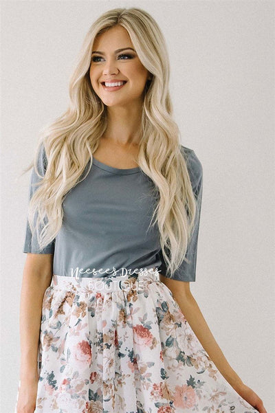 Silky Soft Light Gray Top Tops vendor-unknown
